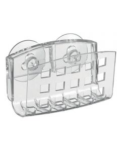 SinkWorks Kitchen Sink Suction Sponge & Scrubber Holder, Clear