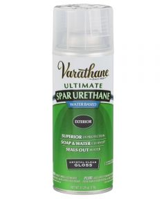 Varathane Ultimate Spar Urethane Exterior Water Based Spray Paint, 11.25 oz., Crystal Clear Gloss