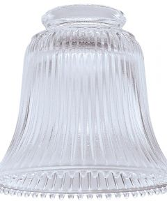 Clear Ribbed Fan & Fixture