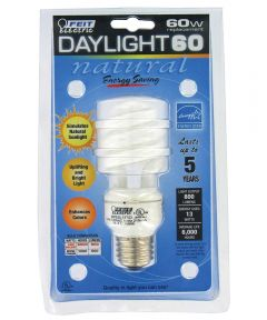 13 Watt Daylight 60 CFL Sprial Bulb