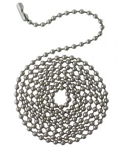 Westinghouse 3 ft. Beaded Chain with Connector, Stainless Steel