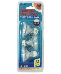 50 Watt MR16 Reflector Frost Halogen Bulb 3 Count