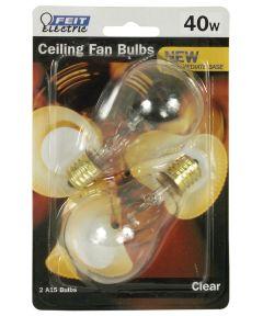 Feit Electric 40 Watt Clear Ceiling Fan Light Bulb 2 Count