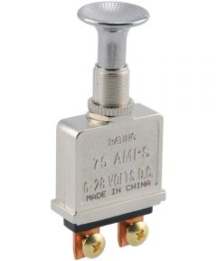 Chrome On-Off Knob Switch (75 Amp)