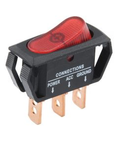 Red SPST On-Off Lighted Rocker Switch (25 Amp)