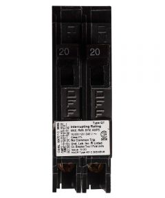 20 Amp Dual Pole Circuit Breaker Twin