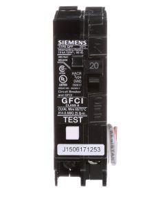 20A 1P Self-Test GFCI & Circuit Breaker