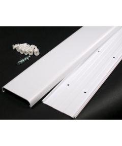 White Flat Screen TV Cord Cover Kit