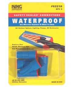 Blue & Red Waterproof Wire Connectors 5 Count