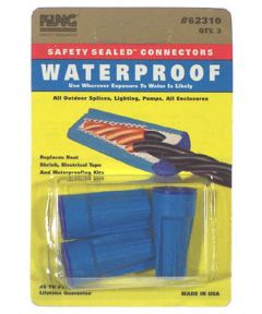 Blue Waterproof Wire Connectors 3 Count