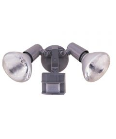 120 Watt Grey DualBrite 2-Level Motion Flood Light 2 Count