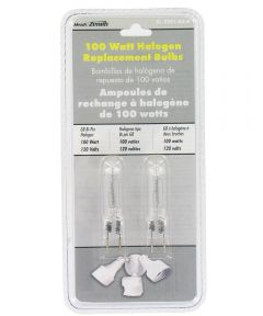 100 Watt Bi-Pin Halogen Bulbs 2 Count