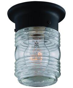 Boston Harbor Jelly Jar Porch Light Fixture, Black