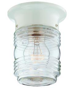 Boston Harbor Jelly Jar Porch Light Fixture, White