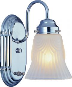 Boston Harbor 1-Light Dimmable Vanity Light Fixture, Chrome