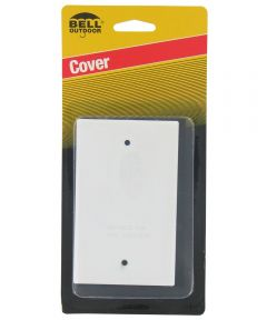 White Single Gang Blank Switch Plate Cover