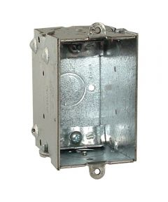 Metal Single Gang Switch Box with NM Clamps