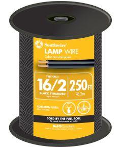 Black 16 Gauge 2 Wire Lampwire (Sold Per Foot)