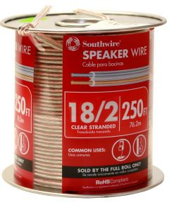 18/2 Clear Speaker Wire (Sold Per Foot)