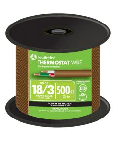 Black 18 Gauge 3 Wire Thermostat Wire (Sold Per Foot)