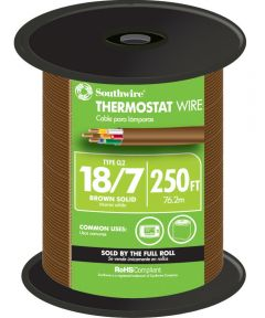 Brown 18 Gauge 7 Wire Thermostat Wire (Sold Per Foot)