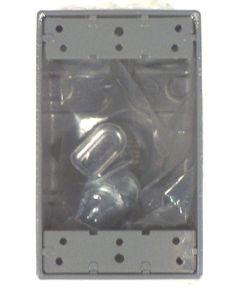 Gray Single Gang 4-3/4 in. Hole Weatherproof Box