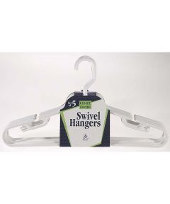 Swivel Hook Suit/Coordinate Hangers, 5 Pack