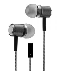 Gray Metal Buds Stereo Earbuds