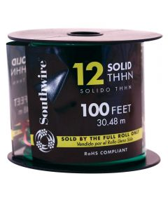 100 ft. 12 Gauge Green THHN Solid Wire