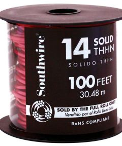100 ft. 14 Gauge Red THHN Solid Wire