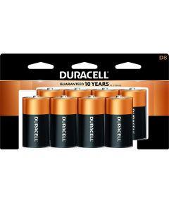 Duracell CopperTop D Alkaline Battery, 8 Pack