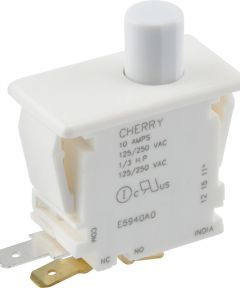 Normally On/Off Quick Connect Terminal Momentary Switch (10 Amp-125 Volt)