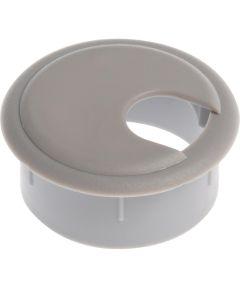 Deep Drawer Gray Computer Grommet (2 in.)