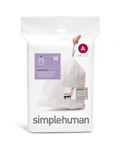 Code A Trash Liner, 4.5 Liters/1.2 Gallons, 30 Liners