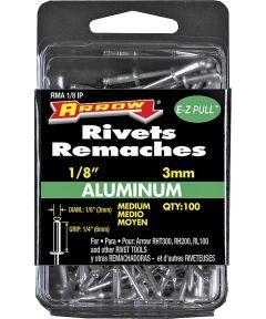 Medium Pop Rivet, 1/8 in Dia, Aluminum