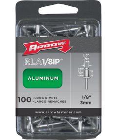 Long Pop Rivet, 1/8 in. (Dia) x 4 in. (L), Aluminum