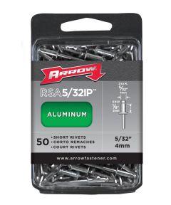 Short Rivet, 5/32 in. (Dia) x 1/8 in. (L), Aluminum