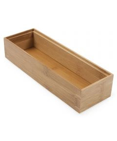 3 in. x 9 in. Natural Core Bamboo Drawer Organizer