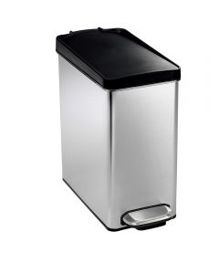10 Liters/2.6 Gallons Profile Step Trash Can, Stainless Steel