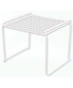 15-1/2 in. x 17-1/2 in. x 17-1/2 in. White Coated Wire Stacking Shelf