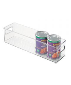 Fridge Binz Kitchen Organizer Bin, Clear, 4x4x14.5 Inches