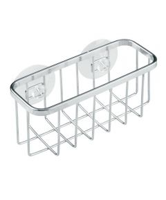 Gia Suction Metal Wire Sponge Holder, Stainless Steel