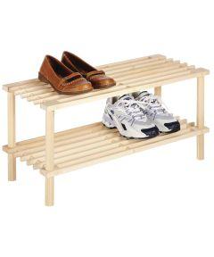 2-Tier Wood Shelf
