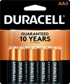 Duracell CopperTop AA Alkaline Battery, 8 Pack
