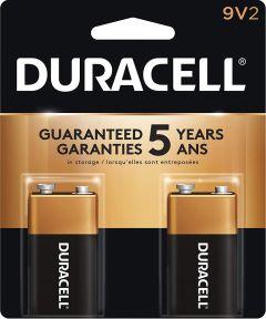 Duracell CopperTop 9V Alkaline Battery, 2 Pack