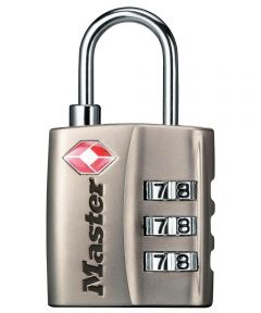 Master Lock TSA-Accepted Combination Luggage Lock, Nickle Finish