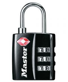 Master Lock TSA-Accepted Combination Luggage Lock, Black