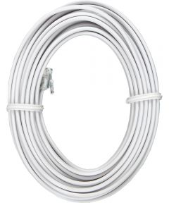 15 ft. White Phone Jack Cord