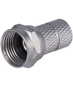 Nickel RG59 Twist On Coax Cable Connector 2 Count