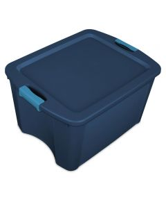 18 Gallon Blue Latch & Carry Tote